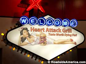 Sign: Welcome - Heart Attack Grill.