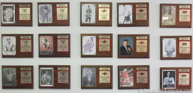 Hall of Fame plaques.