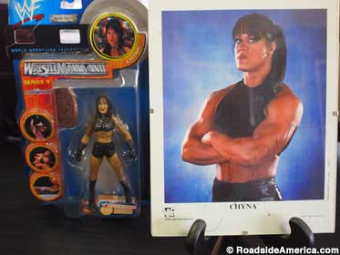 Chyna action figure and promo pic.