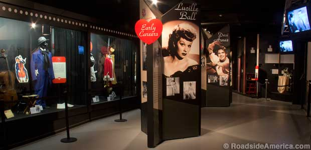 Lucille Ball exhibits.