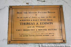 First Projection Motion Picture plaque.