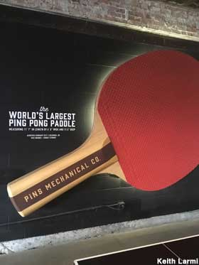 World's Largest Ping Pong Paddle.