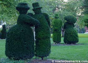 French people made of bushes.