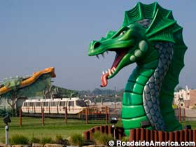 Dragon and monorail.