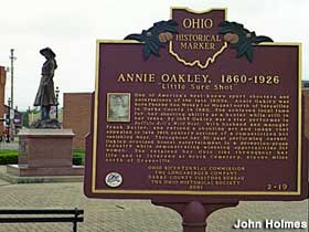 Annie Oakley plaza and Historical Marker.