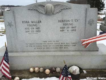 Cy Young grave.