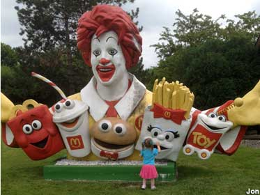 Ronald McDonald and friends.