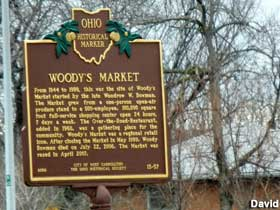 Woody's Market historical marker.