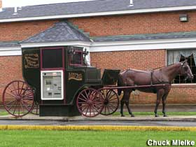 Amish buggy ATM.