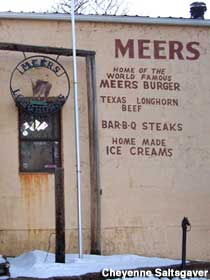 HOme of the World Famous Meers Burger.