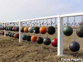 Bowling Ball Fence.