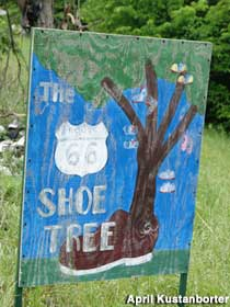 Route 66 Shoe Tree.
