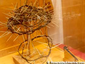 Crown of thorns and nails - identical copies as described in the Bible.