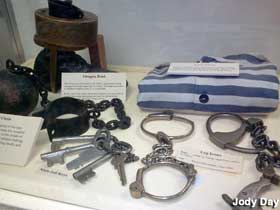 Police museum display.