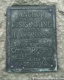 Plaque for anchor.