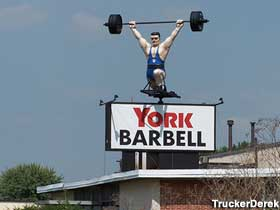 York Barbell rotating weightlifter.