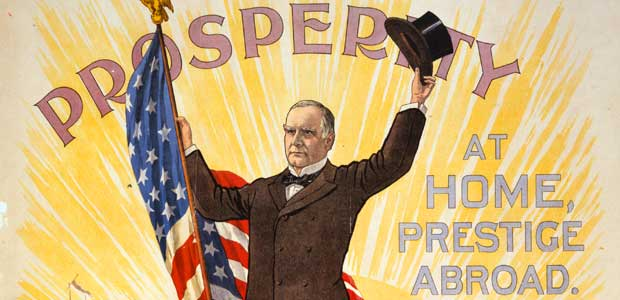 Detail from McKinley campaign poster (1900).