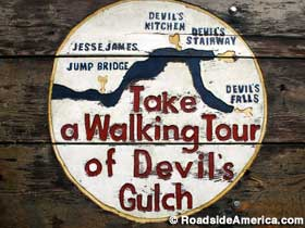 Sign for the Walking Tour.