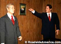 Bush and Gore in wax.
