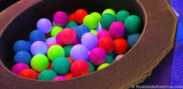 Black light golf balls.