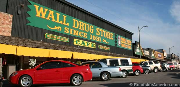 Entrance to Wall Drug Store.
