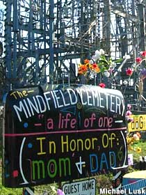 The Mindfield Cemetery.