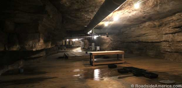 Main room of the Tennessee Pot Cave as it appears now.