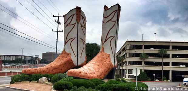 Giant Cowboy boots.