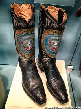 LBJ's presidential boots.