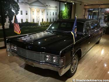 Bulletproof Presidential limo, a 1968 Lincoln Continental, which weighs over 5,000 lbs.