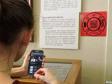 QR codes in the museum.