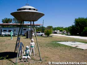 UFO sculpture, Canadian, Texas.