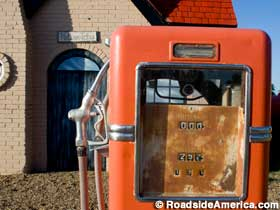 Rusted gas pump.