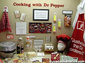 Cooking with Dr Pepper display, Dr Pepper Museum, Waco, Texas.