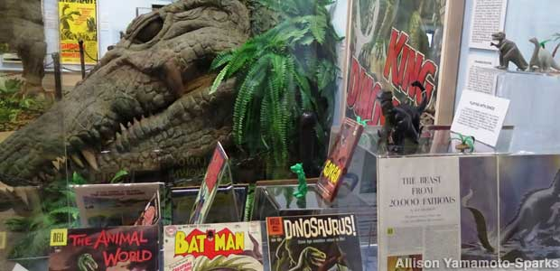 Pop culture dinosaurs: comics, collectibles, and a giant croc head from the movie