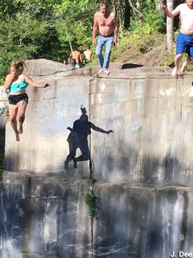 Quarry jumpers.
