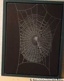 Spider web art.