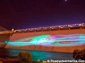 Grand Coulee Dam laser show.