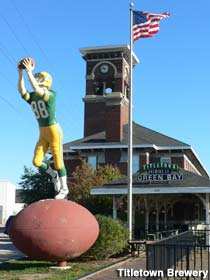 Green Bay Receiver statue.