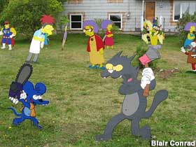 Simpsons cutouts.