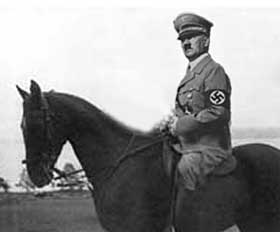 If Hitler had ever ridden a horse, it might have looked like this.