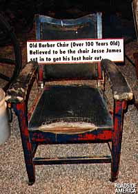 Jesse James' barber chair